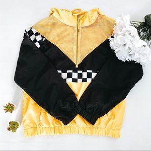 F21   Black & Yellow Checkered Jacket